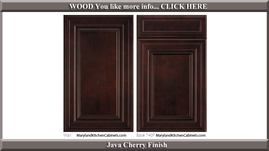 740 Java Cherry Finish Cabinet Door Style