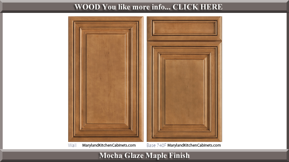 740 Mocha Glaze Maple Finish Cabinet Door Style