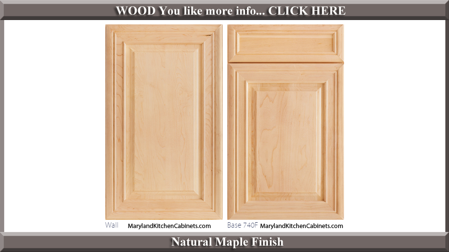 740 Natural Maple Finish Cabinet Door Style