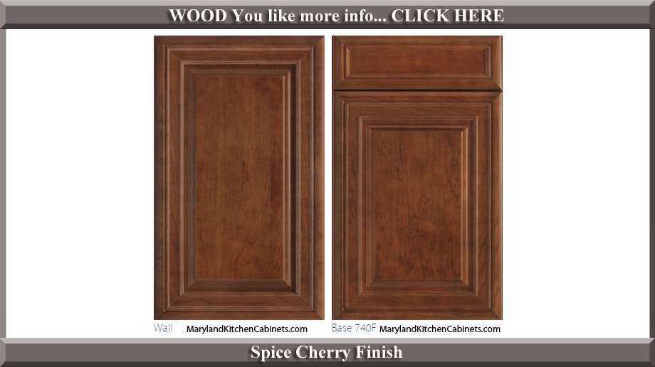 740 Spice Cherry Finish Cabinet Door Style