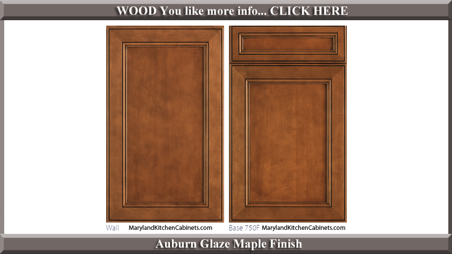 750 Auburn Glaze Maple Finish Cabinet Door Style
