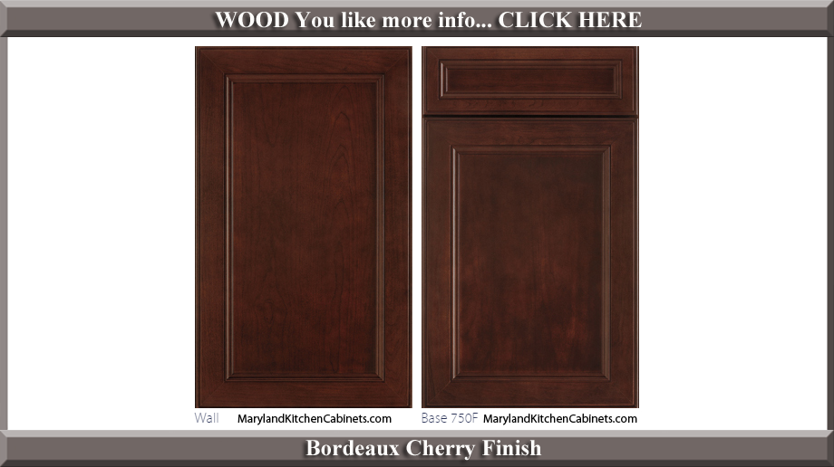 750 Bordeaux Cherry Finish Cabinet Door Style