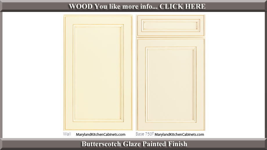 750 Butterscotch Glaze Painted Finish Cabinet Door Style