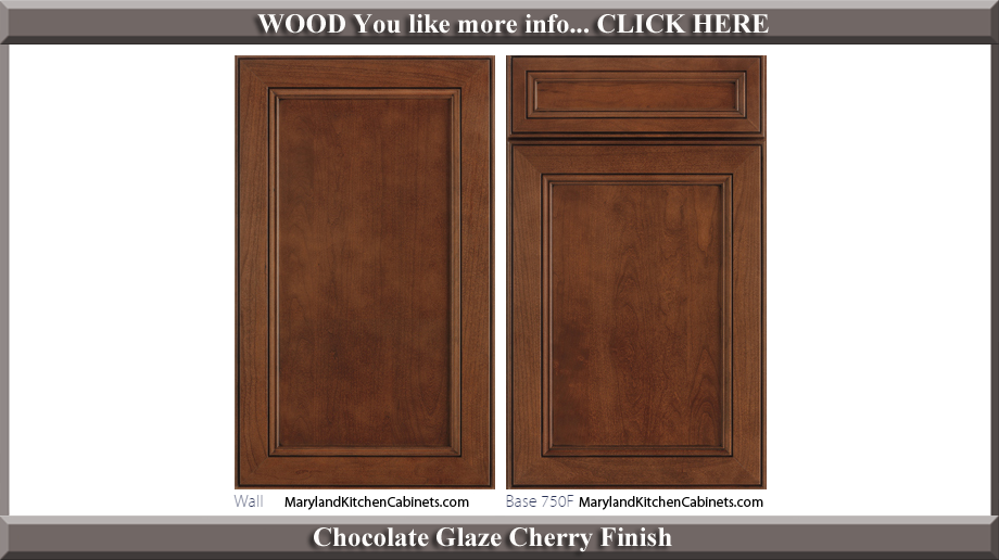 750 Chocolate Glaze Cherry Finish Cabinet Door Style