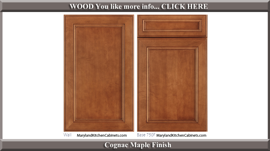 750 Cognac Maple Finish Cabinet Door Style