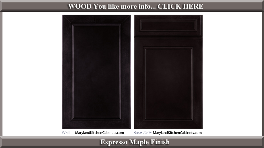 750 Espresso Maple Finish Cabinet Door Style