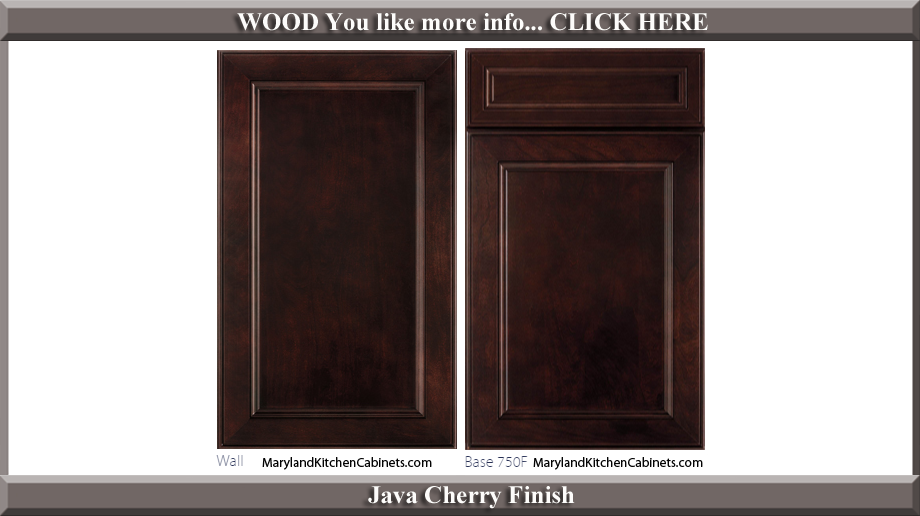 750 Java Cherry Finish Cabinet Door Style