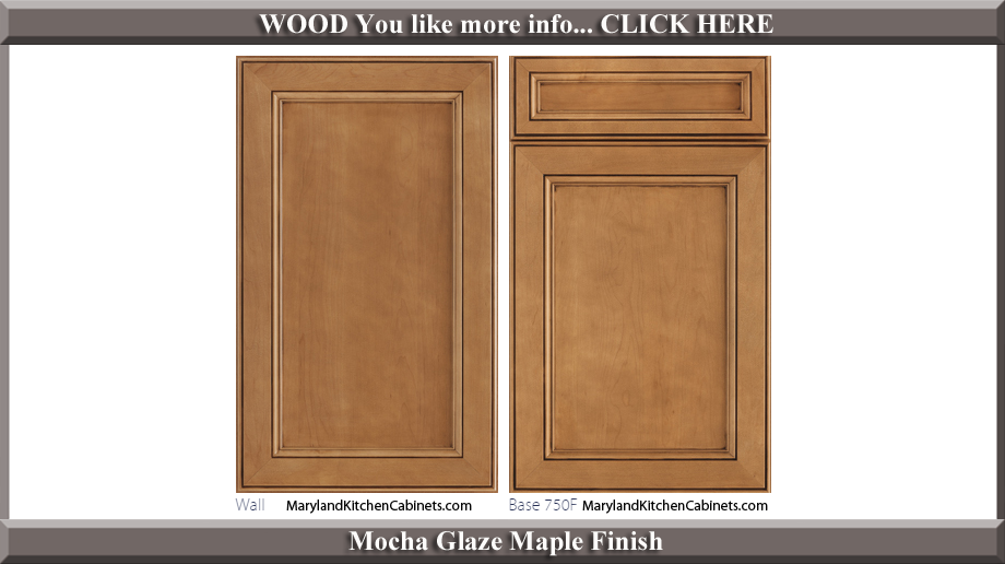 750 Mocha Glaze Maple Finish Cabinet Door Style