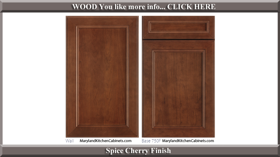 750 Spice Cherry Finish Cabinet Door Style