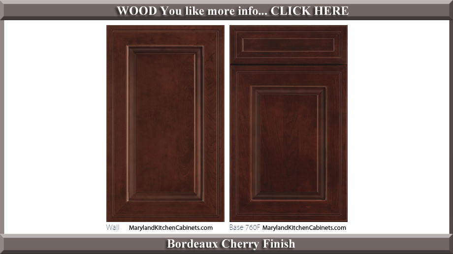 760 Bordeaux Cherry Finish Cabinet Door Style