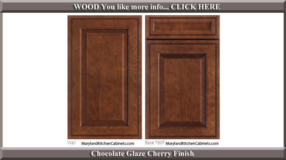 760 Chocolate Glaze Cherry Finish Cabinet Door Style