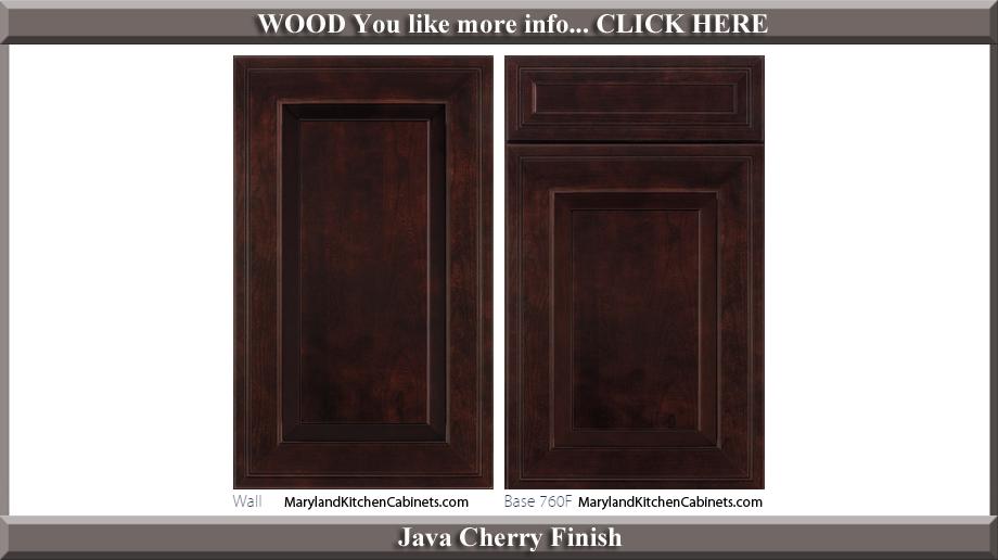 760 Java Cherry Finish Cabinet Door Style