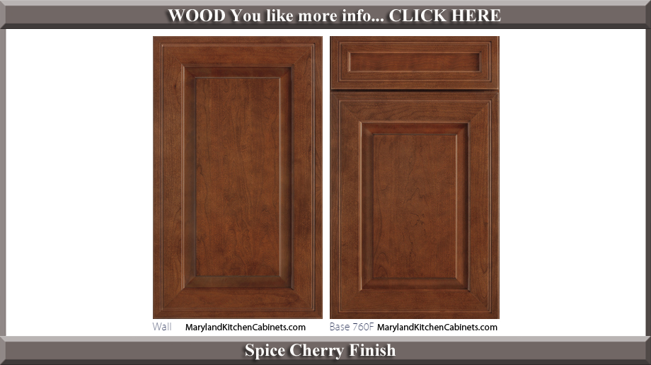 760 Spice Cherry Finish Cabinet Door Style