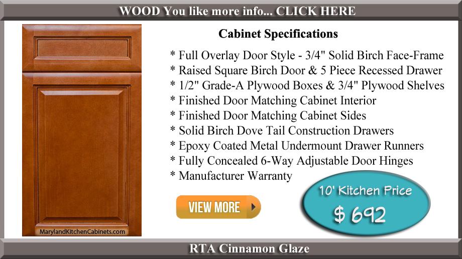 Cinnamon Glaze RTA Cabinets  RTA Kitchen Cabinets Maryland Kitchen Cabinets  Discount. Cinnamon Glaze Rta Kitchen Cabinets
