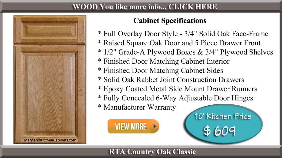 Country Oak Classic RTA Cabinets