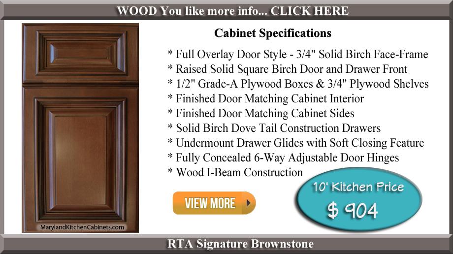 Signature Brownstone Rta Cabinets